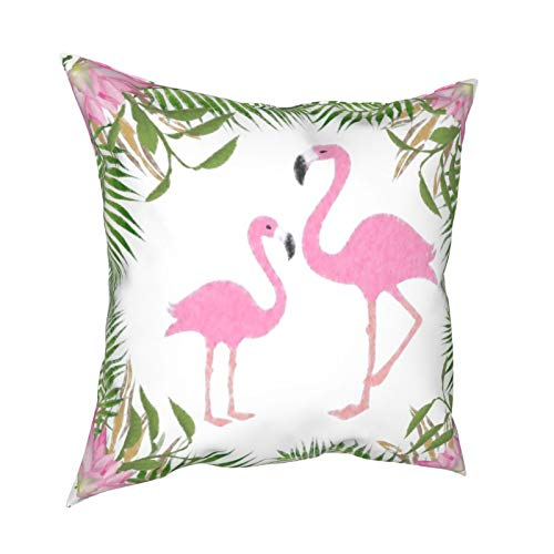 Fundas de almohada, diseño de flamencos rosa para mamá y bebé, fundas de cojín cuadradas para sofá, sala de estar, cama, 45,7 x 45,7 cm