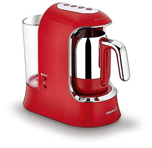 Korkmaz Kaffeekolik elektrischer Mokkakocher Espressokocher Aqua 700 W 4 Tassen Rot |