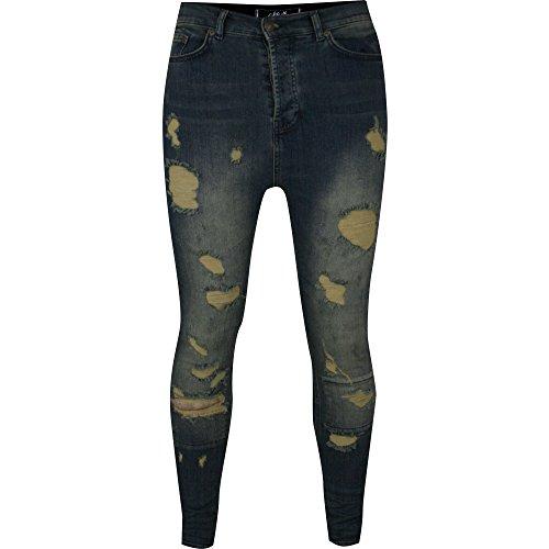 12531 Drop Crotch SKIMSHRED Jeans-Denim-L
