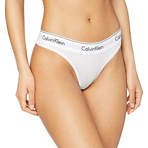 Calvin Klein Underwear, Braguitas para Mujer, Blanco (WHITE 100), L