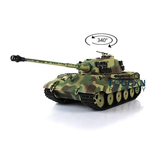 2.4G Henglong 1/16 Scale 6.0 Plastic German King Tiger RTR RC Tank Model 3888A