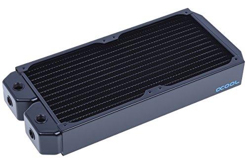 Alphacool 14169 NexXxoS XT45 Full Copper Radiator - CPU Wasserkühlung - 280mm, Kupfer / Schwarz