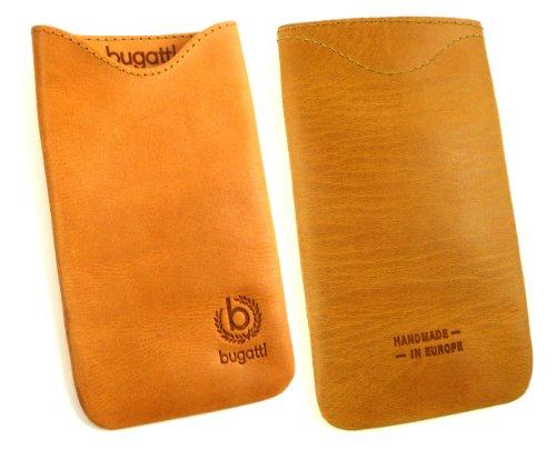 bugatti Original Skinny Golden Summer (Größe SL) Genuine Leather Vertical Tasche Hülle Einzelhandel Pack geeignet für LG L Fino D290 / D295