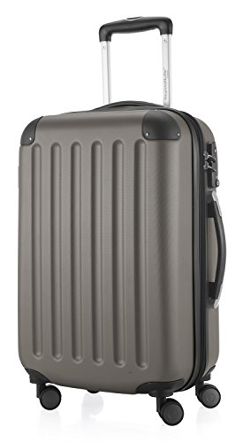 Hauptstadtkoffer - Spree - Handgepäck Hartschalen-Koffer Trolley Rollkoffer Reisekoffer Erweiterbar, TSA, 4 Rollen, 55 cm, 42 Liter, Graphit