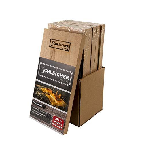 ACTIVA Schleicher Premium - Tablas para ahumar de cedro (30 x 14 x 2 cm, 6 unidades, XXXL 2 cm, extra gruesas, reutilizables y duraderas, 100% cedro rojo occidental de Canadá)
