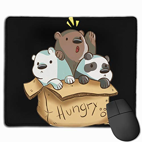 We Bare Bears Mouse Pad with Stitched Edge Premium-Textured Mouse Mat 25x30cm