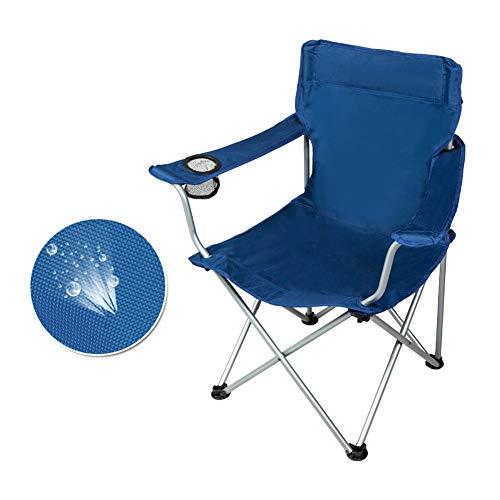 Delaman Chaise de Dossier Chaise Pliante en Alliage daluminium portative avec Dossier for Le Pique-Nique en Camping en Plein air