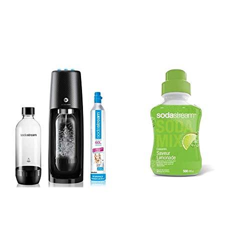 sodastream Spirit One Touch, Machine électrique à Eau pétillante, Noir, Plastique & Concentré...