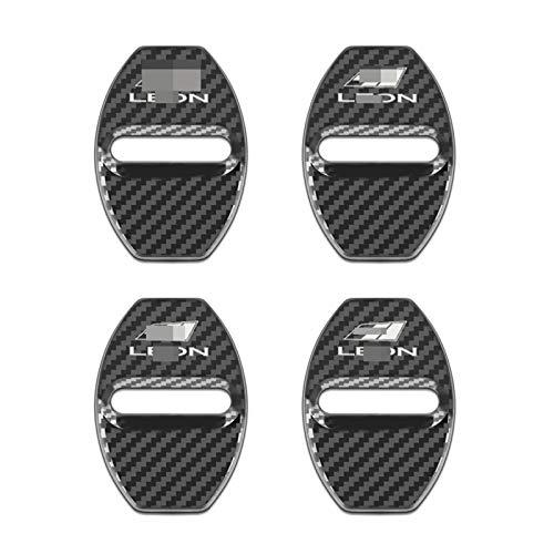 NsbsXs Funda para cerraduras,para Seat Leon Ibiza Cupra emblemas de Coche 4 unids/Set Tapas de Cubie
