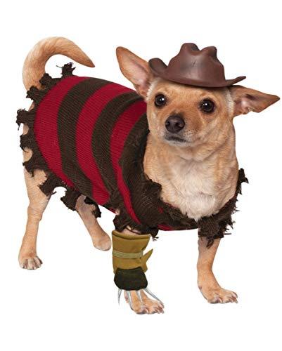 Horror-Shop Nightmare on Elm Street Hundekostüm Freddy Krueger S