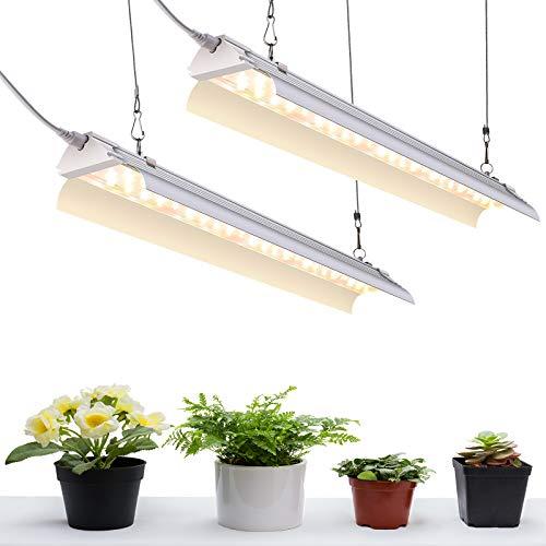 SZHLUX Grow Light 4FT 140W (2×70W, 800W Equivalent) Super Bright Full Spectrum Sunlight Plant Light, LED Grow Light Strips, Grow Light Bulbs for Indoor Plants - 2 Pack