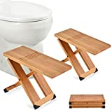 Cattleya Earth Home Essentials Folding Bathroom Toilet Stool for Kids and Adults - Non-Slip Squatting Stools with Travel Bag