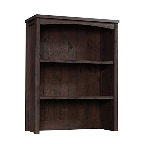 Sauder Costa Library Hutch, Coffee Oak finish