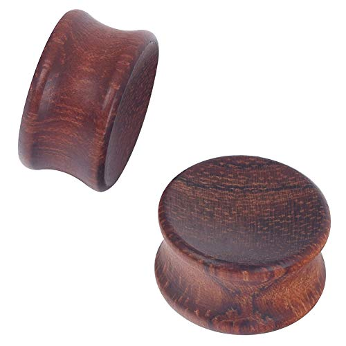 D&Min Jewelry Bubinga Holz Flesh Tunnel Plug Piercing Schmuck 10mm