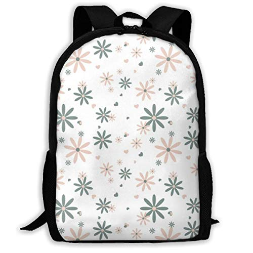 Lawenp Flowers Backpack School Bag, 3D Print Lightweight Bookbag Travel Daypack for Boys & Girls