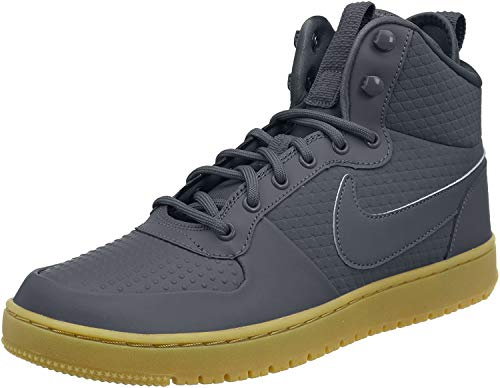 Nike Men's Court Borough Mid Winter Basketball Shoes, Dark Grey 001, 8