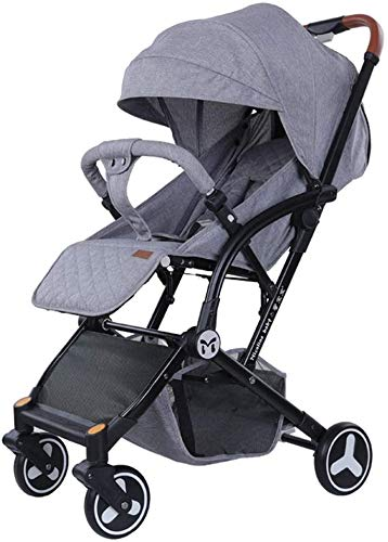 OESFL Cochecito Cochecito for niños, ligero silla de paseo, Viajes plegable carro con el asiento y de descanso de correas, conveniente for los bebés recién nacidos (Color : Gray)
