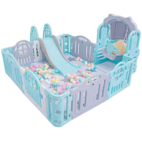 Lowest Prices! Large Infant Household Playground Play with Swing Slide Children's Playpen Activity C...