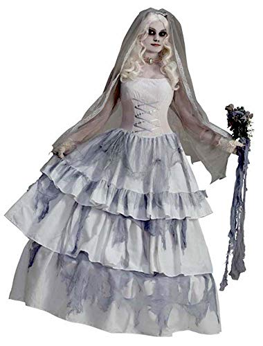 Forum Novelties Women's Deluxe Victorian Ghost Bride Costume, Multi, One Size