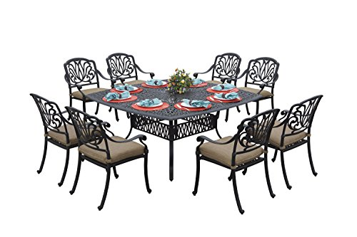 square 8 person dining table - 8