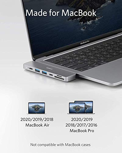 Anker PowerExpand Direct 7-in-2 USB-C Hub für MacBook, USB-C Adapter mit Thunderbolt 3 USB-C (100W PD), 4K HDMI Port, USB-C & USB-A 3.0 Datentransfer (Generalüberholt)