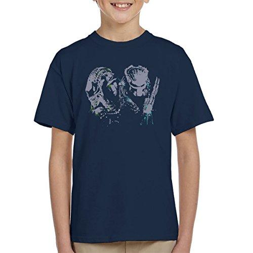 Cloud City 7 Alien Vs Predator Paint Splatter Kid's T-Shirt