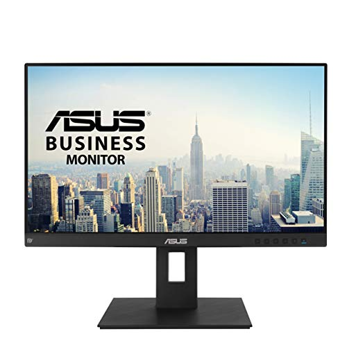 ASUS BE24EQSB 60,45 cm (24 Zoll) Business Monitor (Full HD, IPS, ergonomisch, Blaulichtfilter, HDMI, DisplayPort, VGA, 4x USB 3.0) schwarz