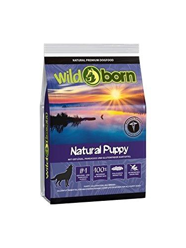 WILDBORN Hundefutter getreidefrei Junior NATURAL PUPPY 500g Welpenfutter für Hundewelpen & Junghunde mit frischem Geflügelfleisch | getreidefreies Hundefutter | Junior Hundefutter | Hundefutter Trockenfutter Junior für alle Hunderassen ab 2 Monate bis 12 Monaten | Mit Hunde Hundefutter getreidefrei Ihren Hund richtig gesund ernähren | Premium Futter Hund | getreidefreies Hundefutter | Hundefutter getreidefrei Trockenfutter