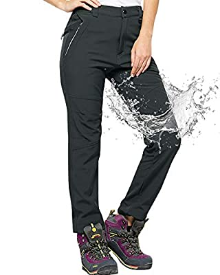 Jessie Kidden Women's Waterproof Pants Hiking Ski Snow Fish Fleece Lined Insulated Outdoor Golf Travel Pant (5088F Grey, 30)