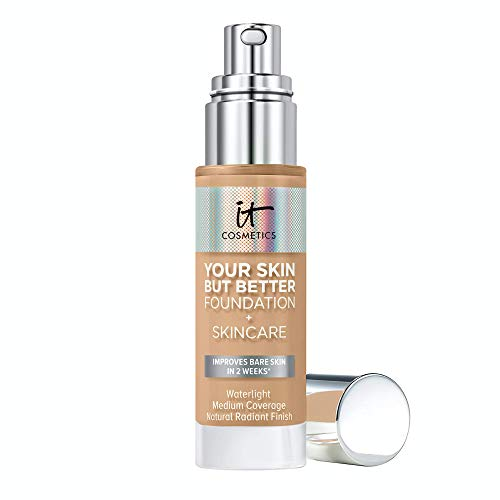 IT Cosmetics Your Skin But Better Foundation + Skincare, Medium Neutral 31.5 - Hydrating Coverage - Minimizes Pores & Imperfections, Natural Radiant Finish - With Hyaluronic Acid - 1.0 fl oz