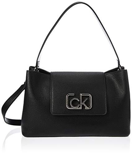 Calvin Klein Damen Ck Cast Top Handle Md Tornistertasche, Schwarz (Black), 0.1x0.1x0.1 centimeters