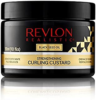 Revlon Realistic Black Seed Oil Strengthening Curling Custard 10.1 Oz (300ml)