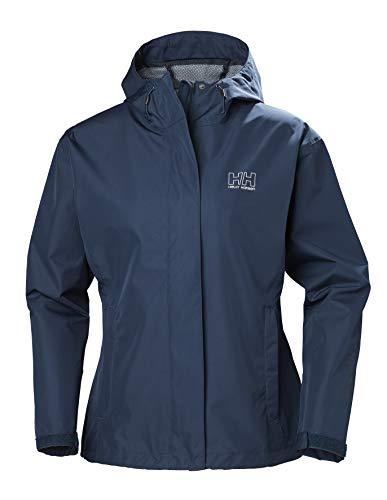 Helly Hansen Damen-Regenmantel Belfast, wasserdicht, Winddicht und atmungsaktiv, Durchgehender Reißverschluss, mit Netzfutter XS Nachtblau