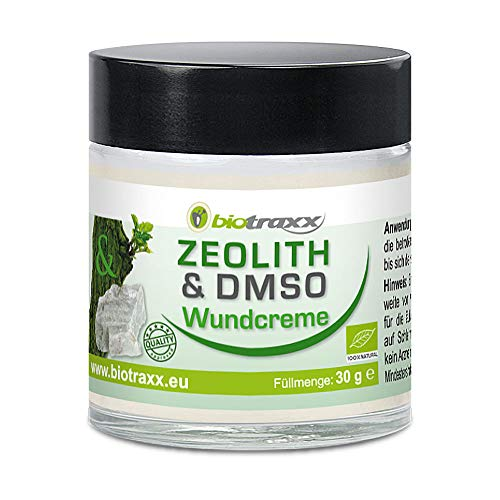 Biotraxx ZEOLITH Wundcreme 30g - mit 15% DMSO Anteil und 13 effektiven Heilkräutern