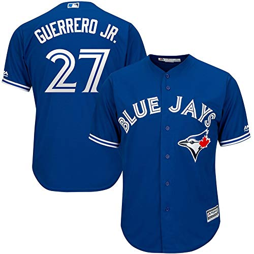 YQSB Jersey Baseball Toronto Blue Jays # 27 Guerrero Jr. Baseballuniform,Blue,Men-M