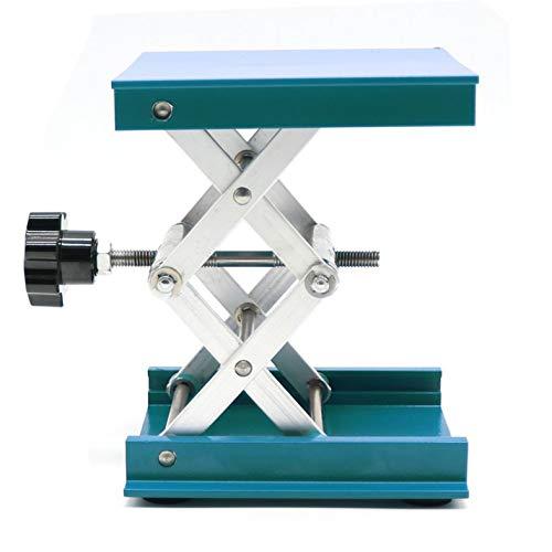 OESS Lift Table Lab Stand Lifter Scientific Scissor Lifting Jack Platform 4''X 4'' Aluminium Oxide