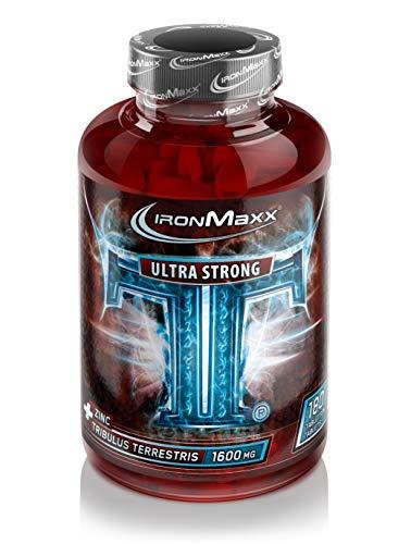 IronMaxx TT Ultra Strong - 100{eb0cf6bf37f76a5137543ded21443e0a83ff065796c138e65328c753aec18217} Tribulus Terrestris – Pflanzliche Zink-Tabletten hochdosiert – Für einen natürlichen Testosteronhaushalt – Für Muskelaufbau und Kraftaufbau – 180 Tabletten
