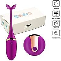 ZAMO EVA Huevo Vibrador Inalámbrico de 10 Modos Vibrantes,USB Recargable y IP67 Impermeable. Tamaño Perfecto y Facil de Limpiar y Llevar