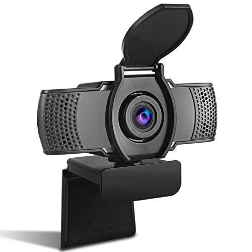 MODKON Webcam, 1080P HD PC Webcam con Microfono e Cover per Computer Desktop Laptop, Web Camera USB Plug And Play per Youtube Studio Online Chiamata, Videochiamate Conferenza.