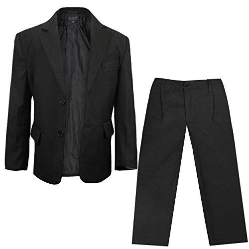 Paul Malone - Festlicher Kinder Anzug für Jungs Sakko + Hose (tailliert) schwarz/Hochzeit Kommunion Taufe Konfirmation 14