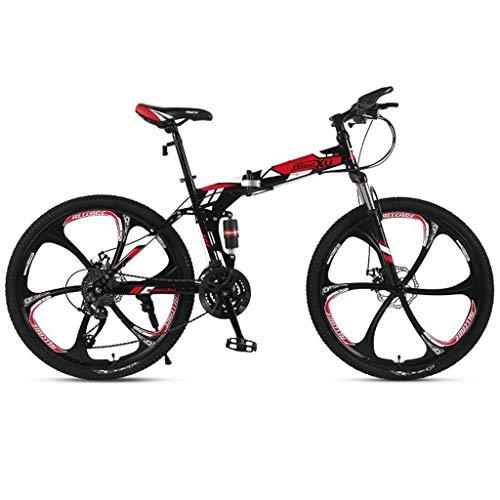 WGYDREAM Mountainbike Bici Bicicletta MTB 26inch Mountain Bike, Biciclette Pieghevoli Hardtail, Full Suspension e Dual Freno a Disco, Acciaio al Carbonio Telaio MTB Mountain Bike