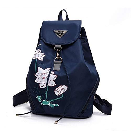 Romantic-Z Sac à Dos de Voyage Fashion Lady Couleur Unie en Nylon Nylon Floral Bags Cartable Sac à bandoulière Floral Grande capacité Femme%