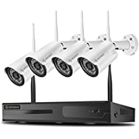 4-Pieces Defeway 1080p Wireless Security System