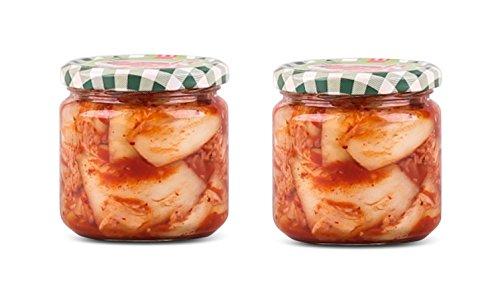 2 x 300g Frischer Kimchi im Glas aus Deutschland - Pamai Pai® - frisch eingelegter Chinakohl Kim Chi