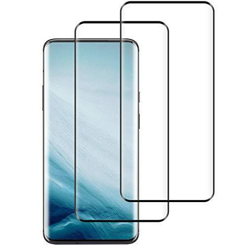 Aspiree 2 Stück Panzerglas Schutzfolie kompatibel mit Oneplus 7 Pro, Gehärtetes Glas Bildschirmschutzfolie mit 9H Festigkeit, 3D Vollständige Abdeckung HD Ultra Klar, Bildschirmschutz Folie für Oneplus 7 Pro