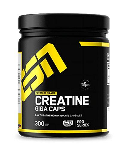 ESN Creatine Giga Caps – 300 Kapseln – hochwertiges ultrafeines Creatine Monohydrate - vegan – 100 Portionen – 350 g - Hergestellt in Deutschland