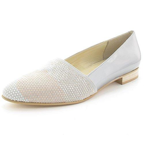 MARIPE 22124-132657 Ballerina - materiaalmix Argento (zilvergrijs)