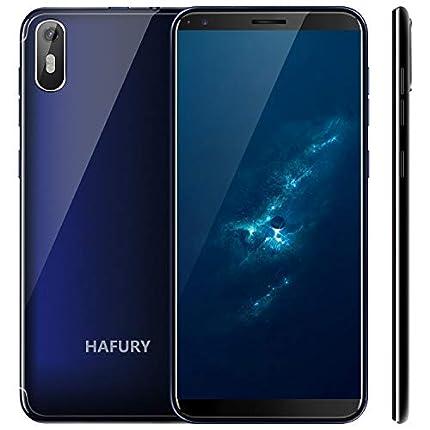 """Hafury A7 2019 Android 9.0 Smartphone Libre 3G 5.5"""" 18:9 Full-Screen Quad-Core 2GB RAM 16GB ROM Dual SIM Cámara 8Mp Detección de Gravedad y (Azul) …"""