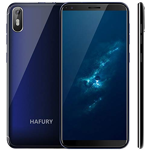 "Hafury A7 Smartphone ohne Vertrag 5.5"" (18:9) Touch Display Android 9.0 Dual SIM 16GB interner Speicher Quad-Core 8MP Hauptkamera / 5MP Frontkamera und Face-Unlock Funktion (Blau)"
