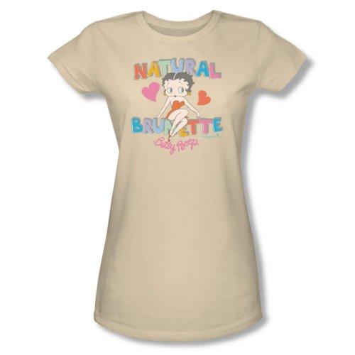 Betty Boop - Frauen Natürliche Brunette T-Shirt in der Creme, Large, Cream